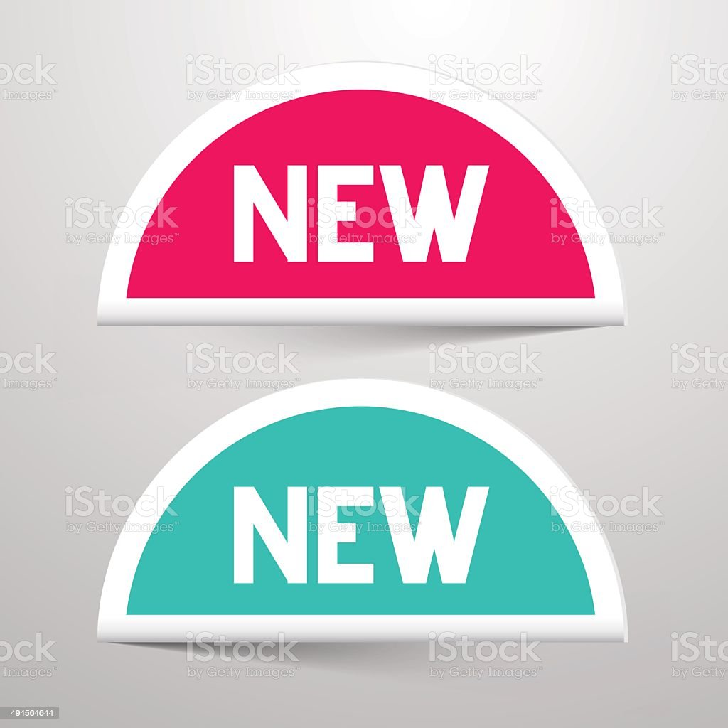 New Paper Labels Set vector art illustration
