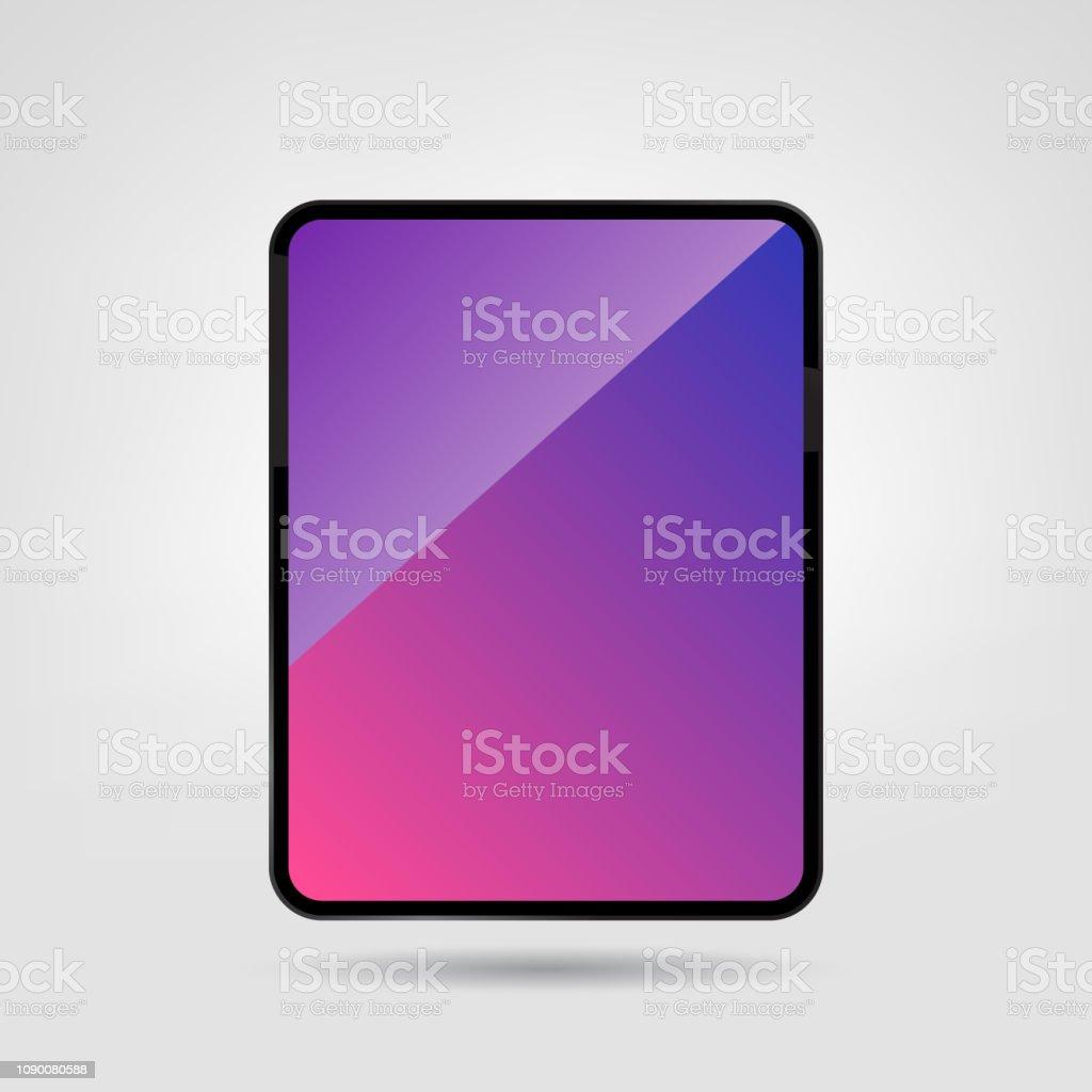 New Premium Tablet. Blank Screen Digital Tablet Vector Illustration Template. vector art illustration