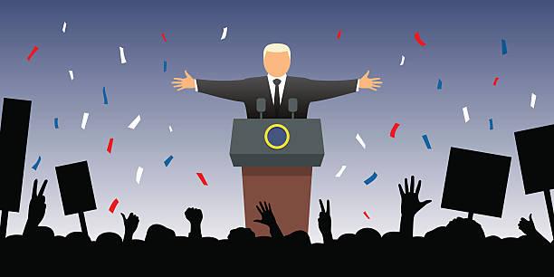 ilustrações, clipart, desenhos animados e ícones de new president - político