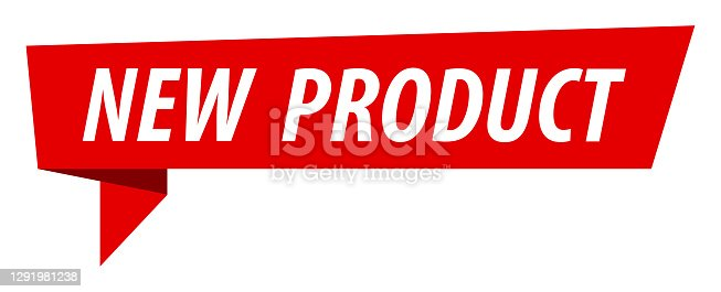 istock New Product - Banner, Speech Bubble, Label, Ribbon Template. Vector Stock Illustration 1291981238