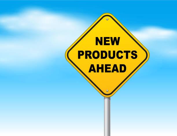 Neue Produkte Voraus – Vektorgrafik