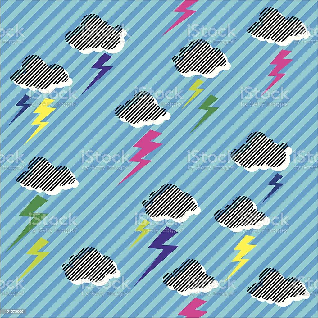 New Rave Sky vector art illustration