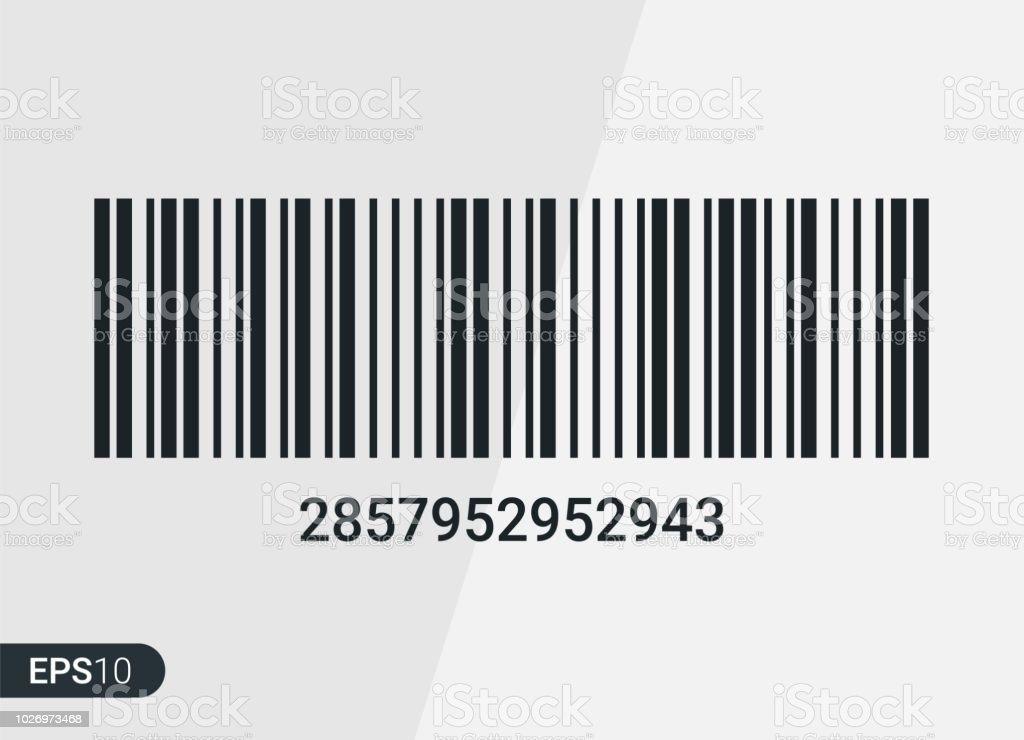新しい現実的なバーコードバーコード テンプレート 影と白い背景で隔離の