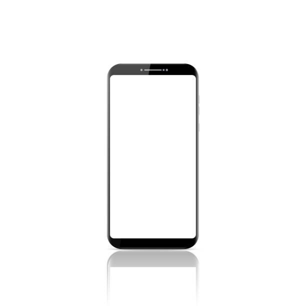 Nuevo teléfono inteligente móvil realista estilo moderno. Smartphone vectorial aislado sobre fondo blanco. - ilustración de arte vectorial