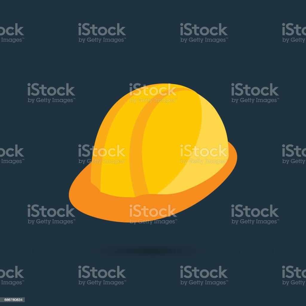new safety helmet vector art illustration
