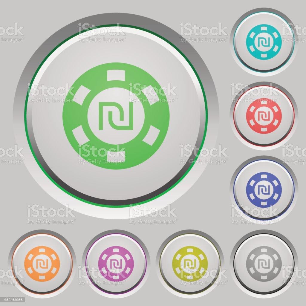 Nuevo shéquel casino chip botones ilustración de nuevo shéquel casino chip botones y más banco de imágenes de aplicar libre de derechos