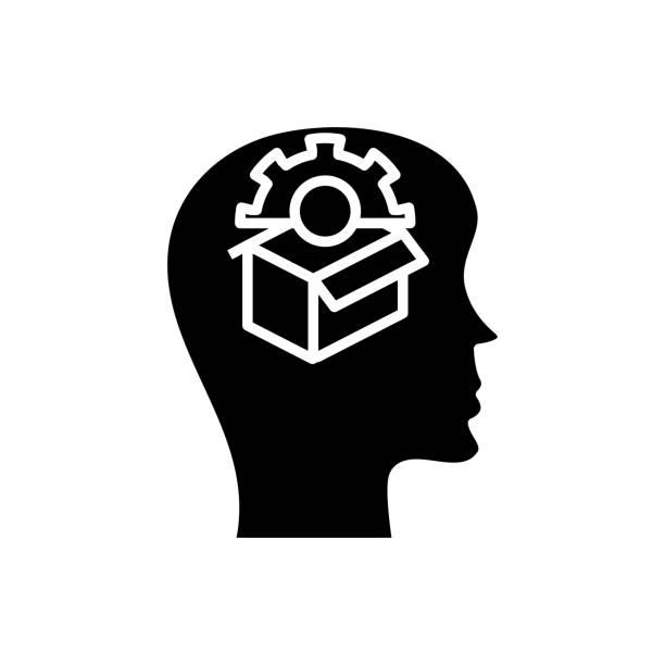 bildbanksillustrationer, clip art samt tecknat material och ikoner med ny lösning svart ikon, konceptillustration, vektor platt symbol, tecken tecken - changing bulb led