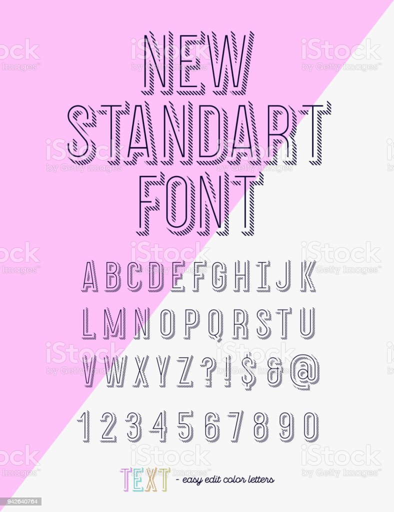 New Standart Font Modern Typography Trend Style For T Shirt ...