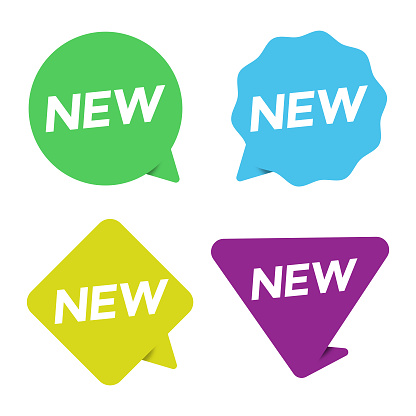 New Sticker Icon Set. New Label and Tag Price, Sale Vector Design on White Background.