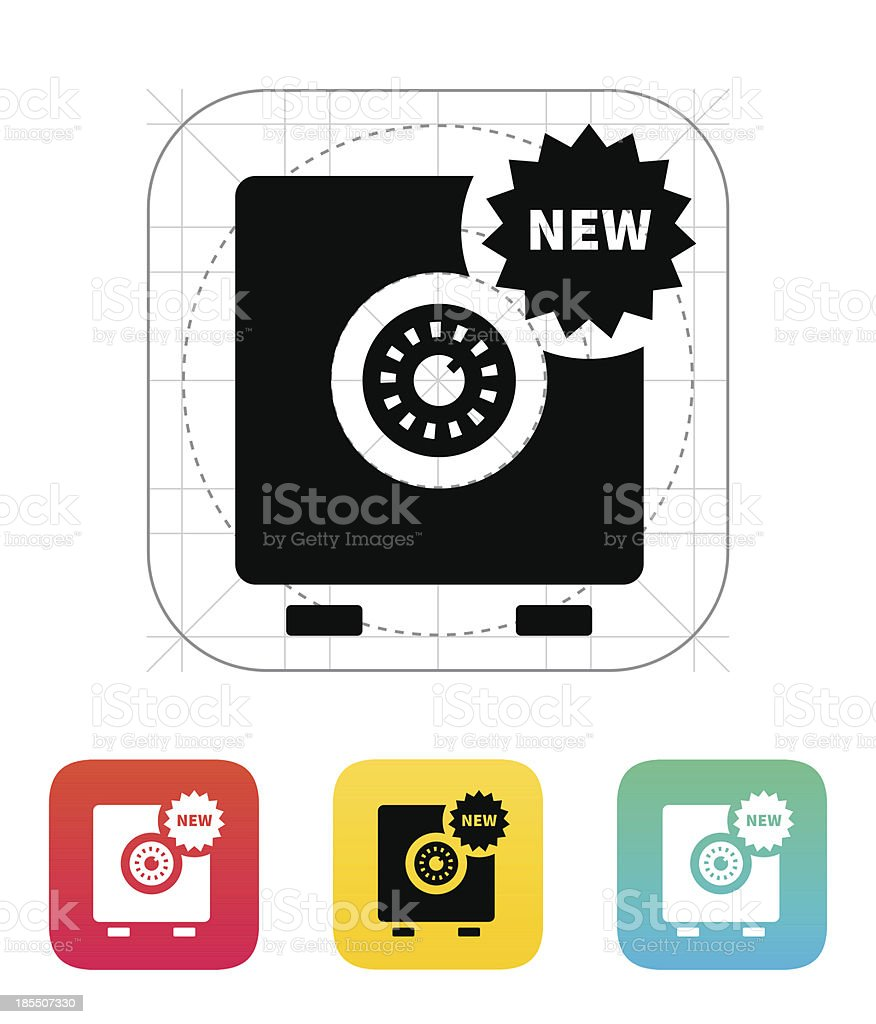 New strongbox icon. royalty-free stock vector art