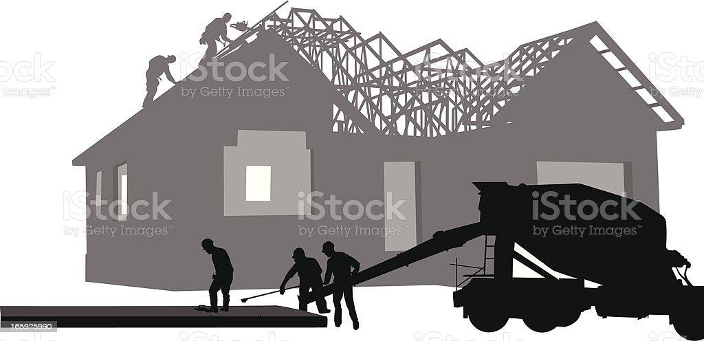 New Subdivision Vector Silhouette vector art illustration