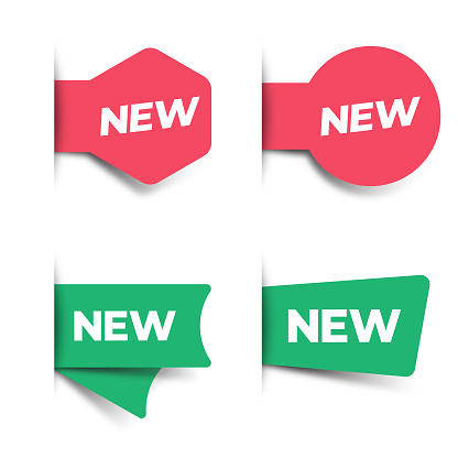 New Tag and Label Icon Set. Sale and Price Concept Vector Design on White Background.