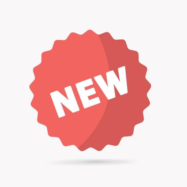 ilustrações de stock, clip art, desenhos animados e ícones de new tag icon. - new