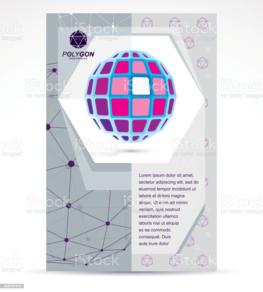 New technology theme booklet cover design, front page. Abstract...