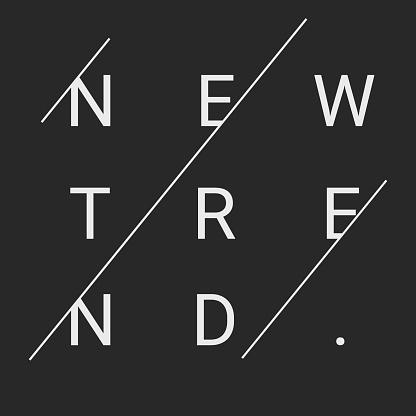 New trend text. t shirt design