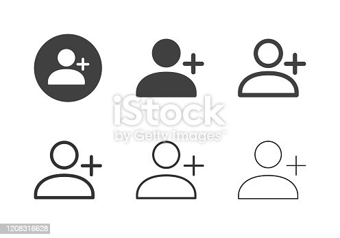 New User Icons Multi Series Vector EPS File.