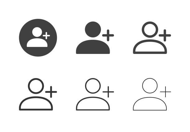 bildbanksillustrationer, clip art samt tecknat material och ikoner med nya användarikoner - multi-serien - profile photo