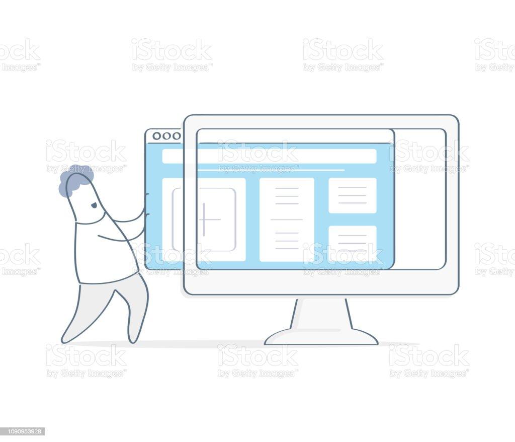 New website template launch, ux ui design updates, changing website...