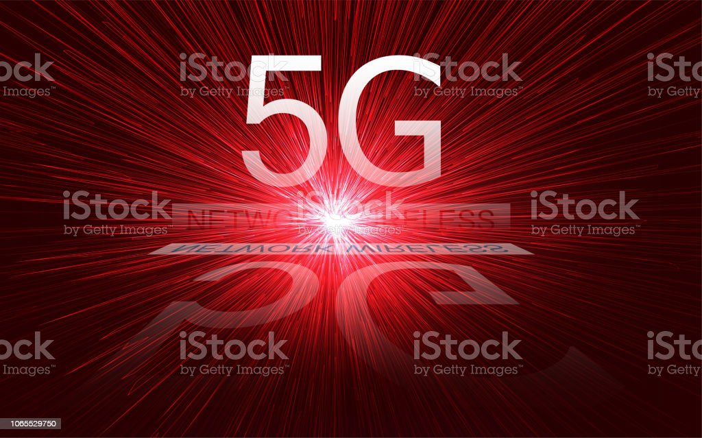 5G new wireless internet wifi connection. vector art illustration