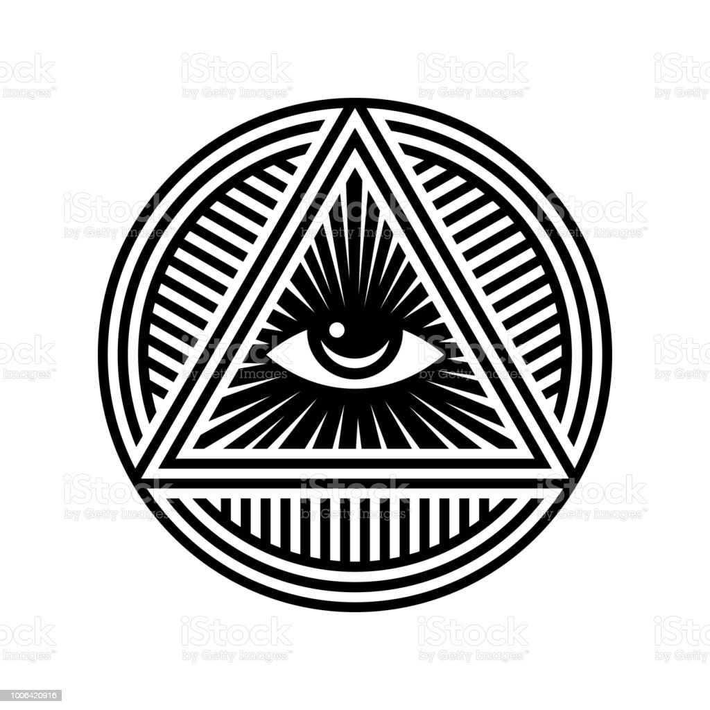 New World Order Symbol With Allseeing Eye Of Providence Novus Ordo