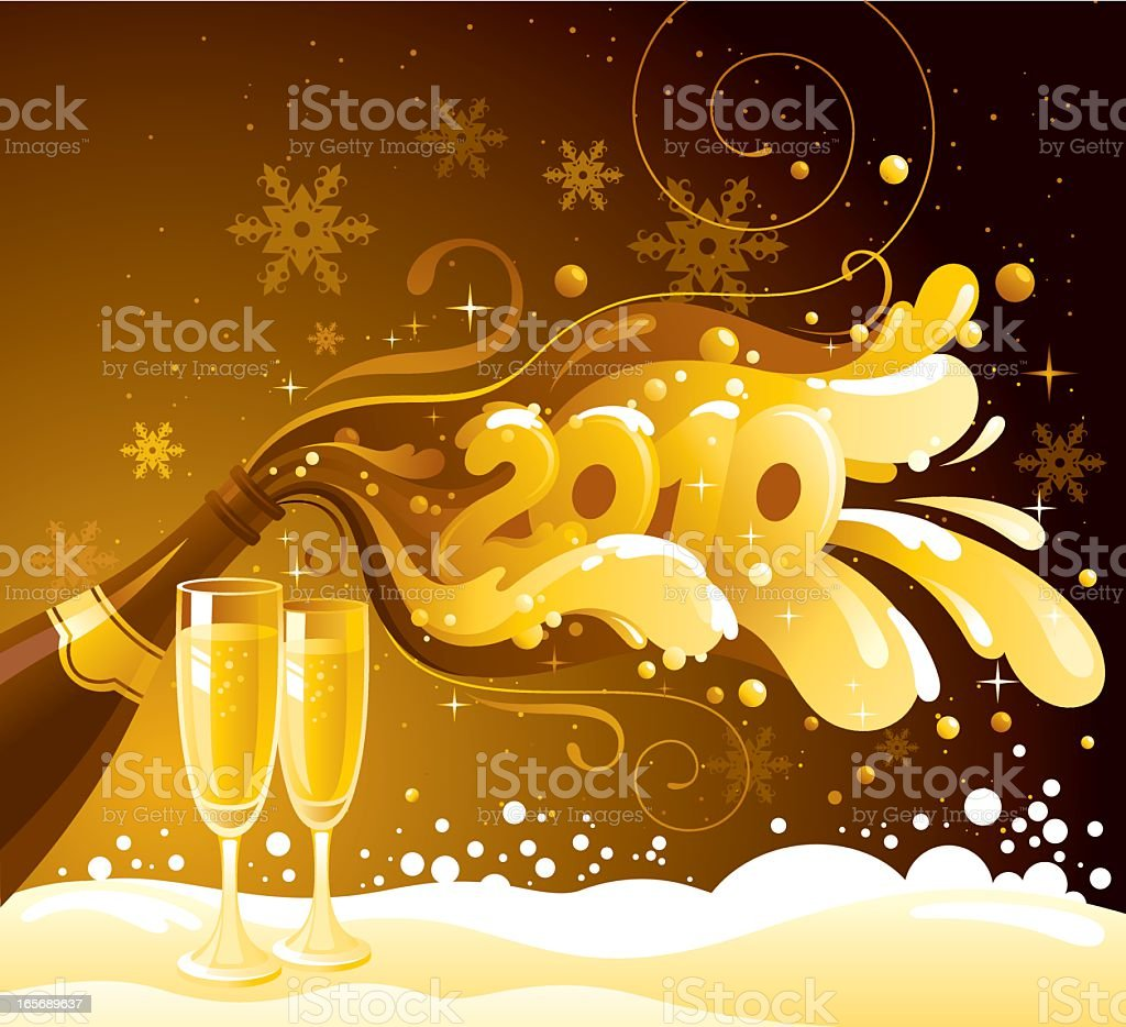 New Year 2010 royalty-free stock vector art