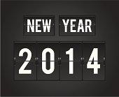New Year 2014 analog countdown board