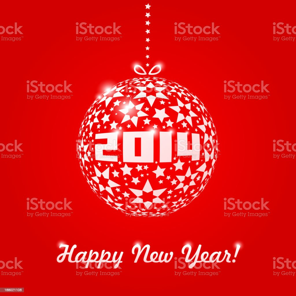 New year 2014 greeting card in minimalistic style stock vector art new year 2014 greeting card in minimalistic style royalty free new year 2014 greeting m4hsunfo