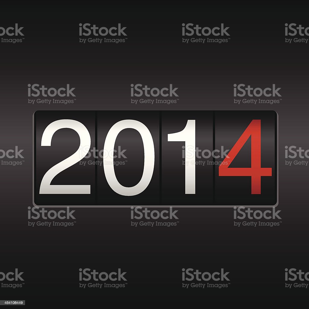 New Year 2014 Odometer vector art illustration