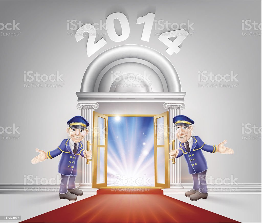 New Year 2014 Red Carpet royalty-free stock vector art