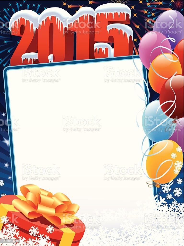 New Year 2015 decoration vector art illustration