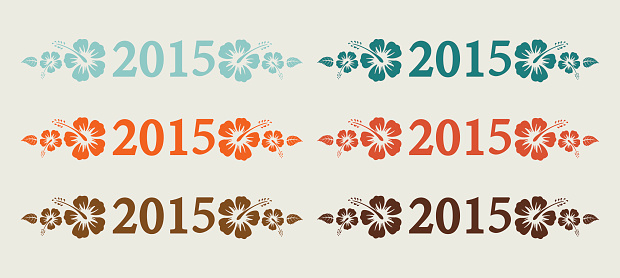 New Year 2015 text in retro colors