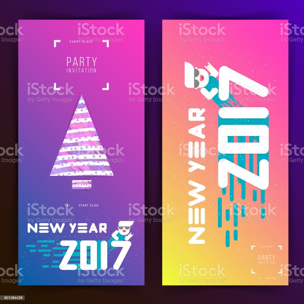 New year 2017 party invitation flat design arte vetorial de acervo new year 2017 party invitation flat design new year 2017 party invitation flat design stopboris Images