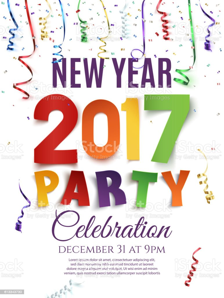 new year 2017 party poster template stock vector art 613343730 istock