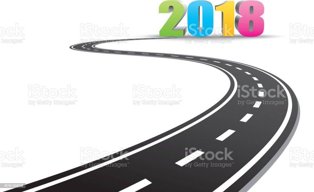 Neue Jahr 2018 voraus – Vektorgrafik