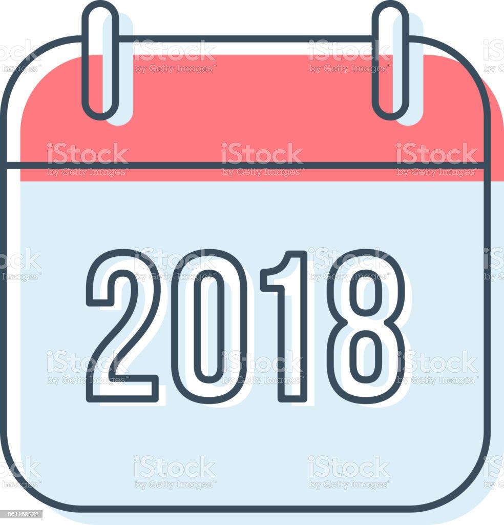 Neue Jahr 2018 Kalendersymbol Vektor – Vektorgrafik