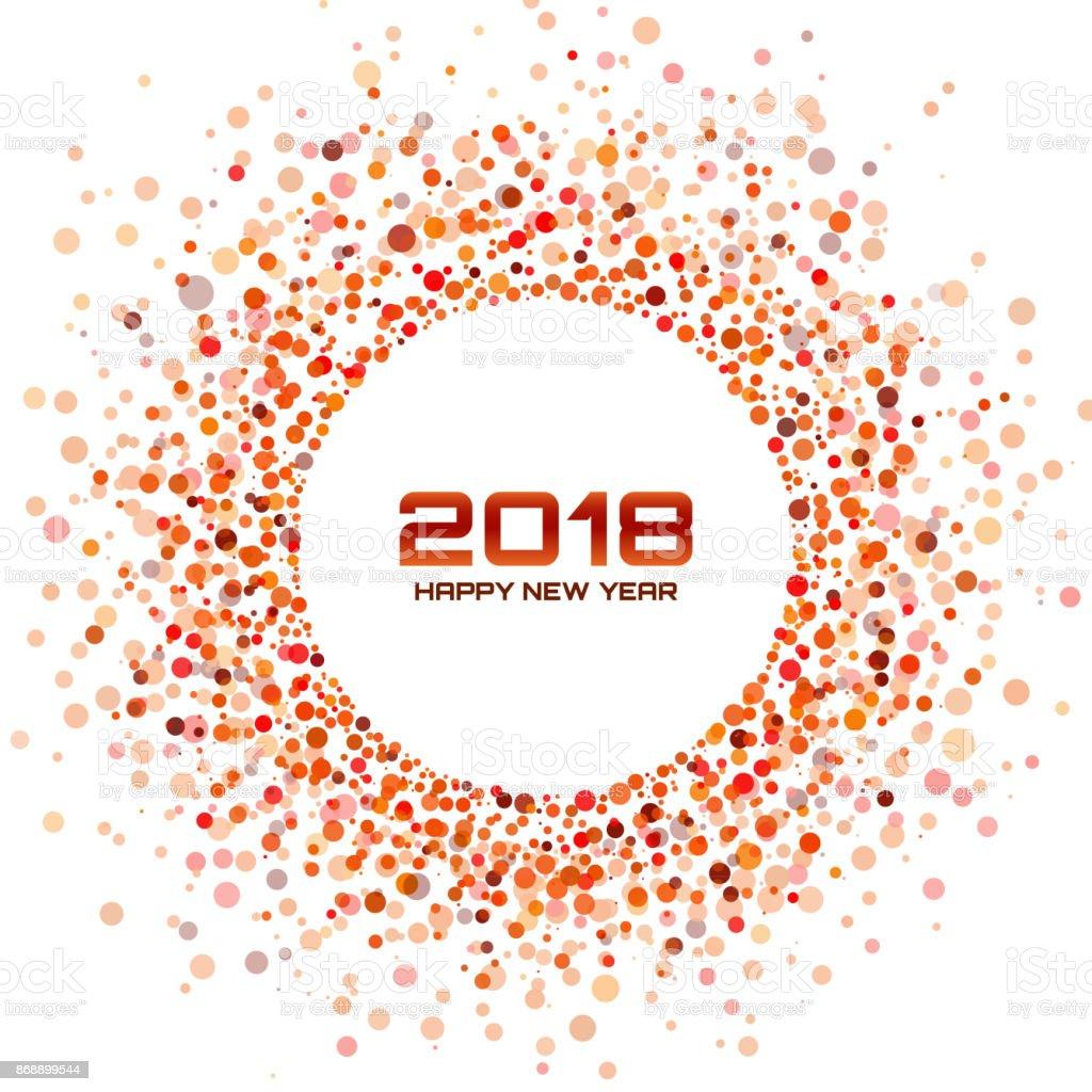 Neue Jahr 2018 Card Background Rotlicht Halbton Kreis Rahmen Mit ...
