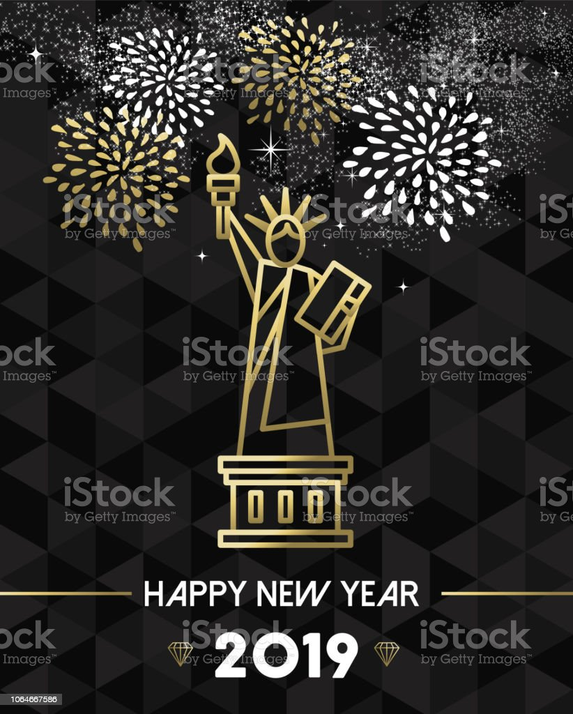 new year 2019 nyc usa travel statue liberty gold royalty free new year 2019 nyc