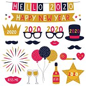 New Year 2020 banners party props set