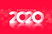 new year 2020 glossy background design