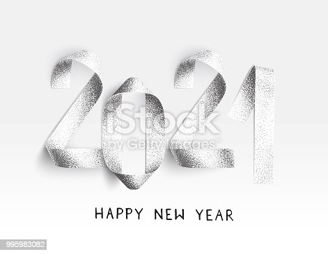 845307398 istock photo New Year 2021 card stippling 3D Illustration with realistic shadows 995983082