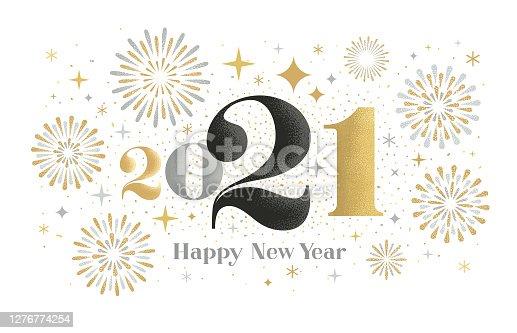 istock New year 2021 fireworks greeting 1276774254
