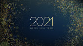 istock 2021 New Year Abstract shiny color gold wave design element 1285590000