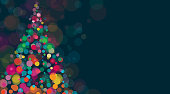 New Year And Christmas Background Horizontal