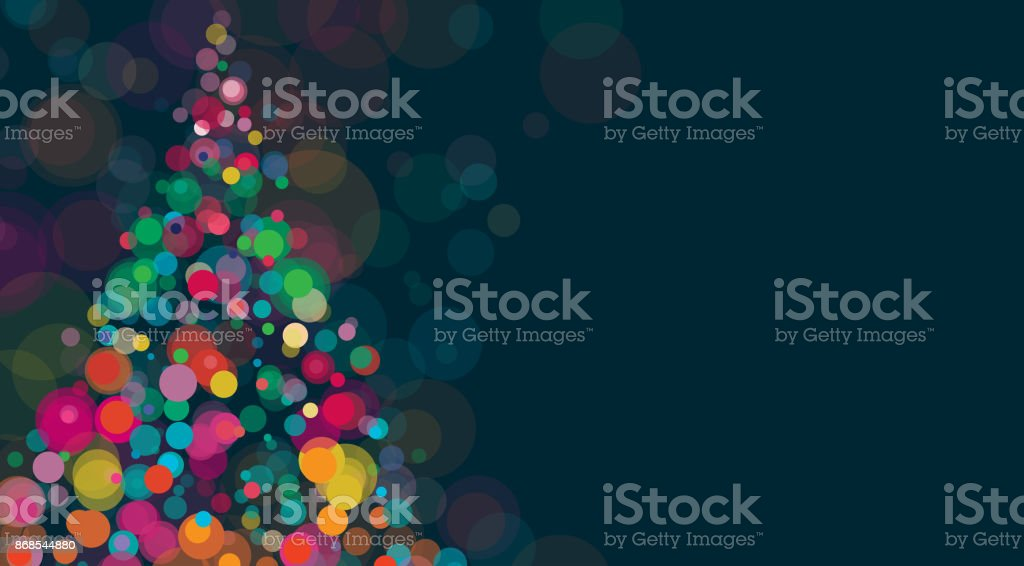 New Year And Christmas Background Horizontal vector art illustration