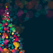 Vibrant and sparkling background with Christmas and New Year theme.