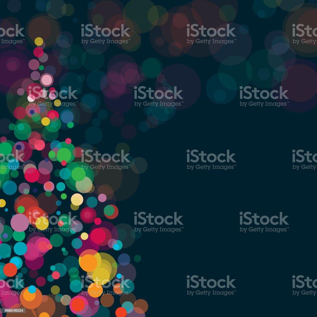 Neujahr und Weihnachten Hintergrund Platz Zusammensetzung – Vektorgrafik