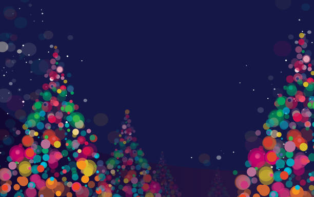 new year and christmas background - holiday backgrounds stock illustrations, clip art, cartoons, & icons
