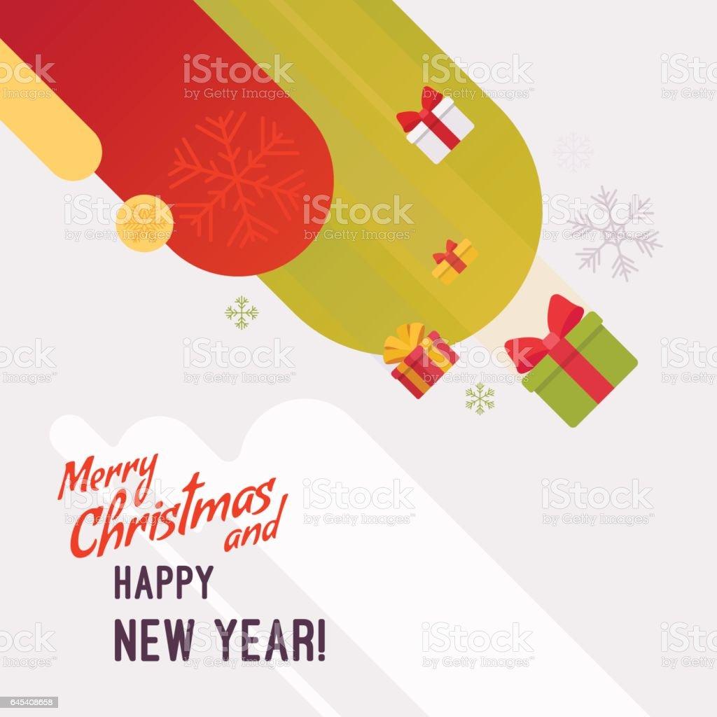 Neujahr Und Weihnachten Karte Vorlage Stock Vektor Art und mehr ...
