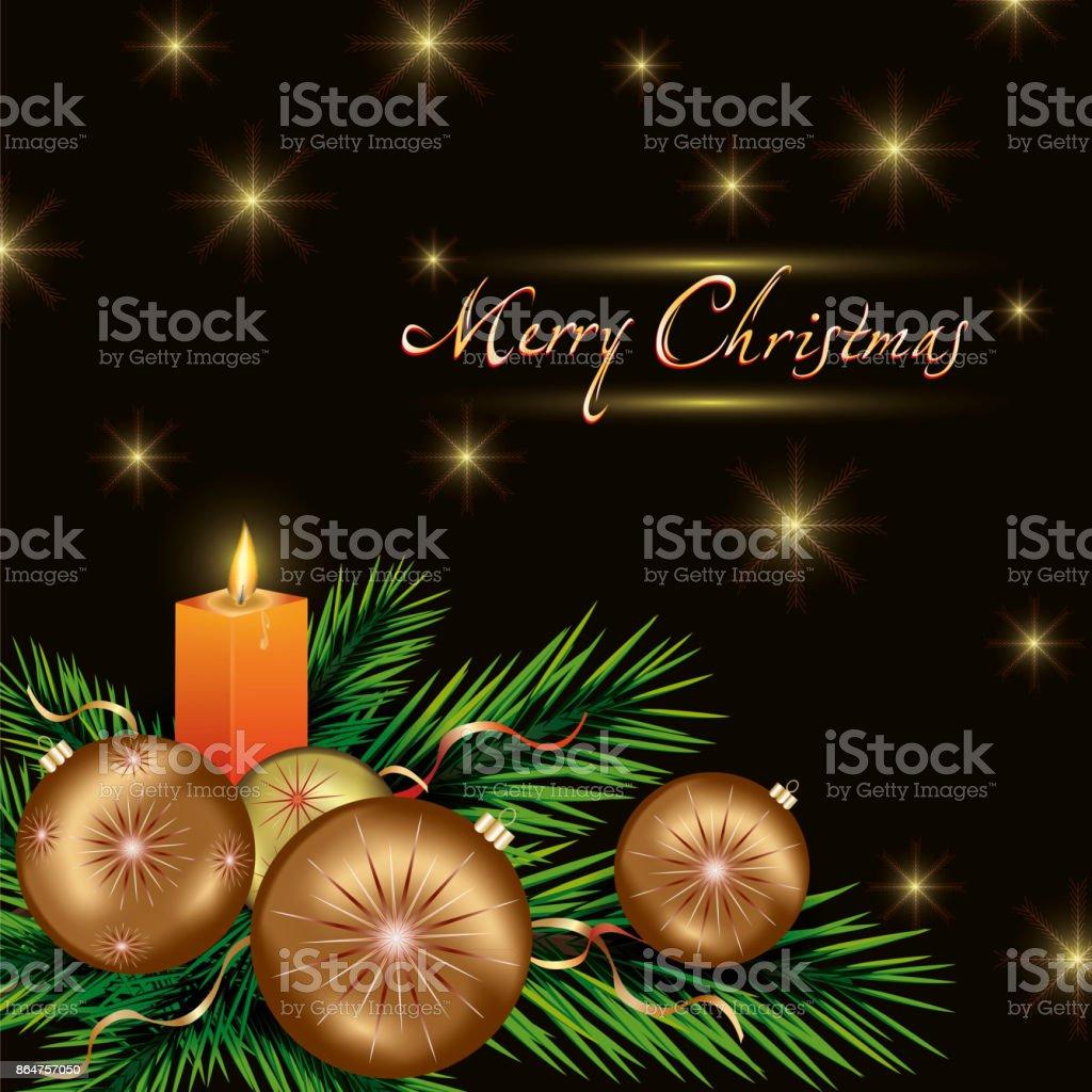 Neujahr Und Weihnachten Karte Mit Weihnachtsschmuck Stock Vektor Art ...