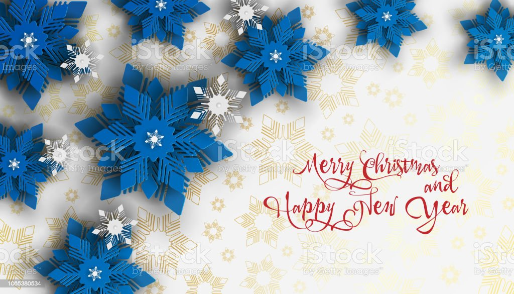 New Year And Christmas Design Blue And White Christmas Paper